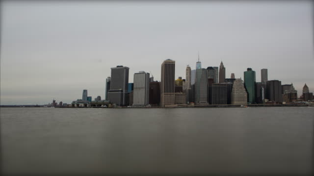 Miniature New York City and east river with boats video