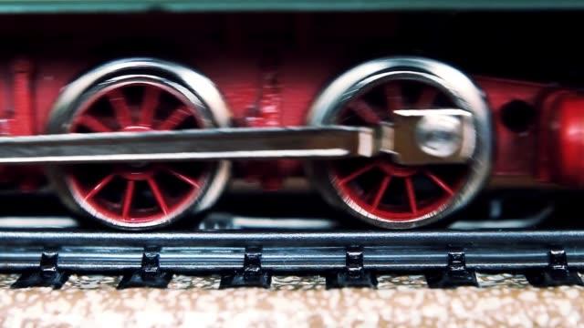 Miniature Train With Steam Locomotive.