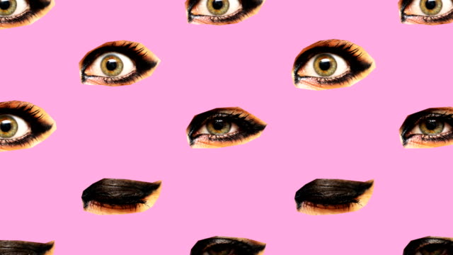 Minimal Motion art. Eyes background. Visual  fashion art Minimal Motion art. Eyes background. Visual  fashion art art and craft product stock videos & royalty-free footage