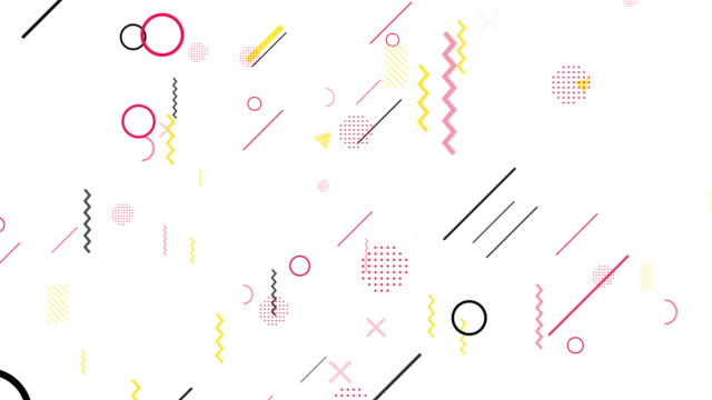 minimal shapes graphics abstract[loop] - pop art video stock e b–roll