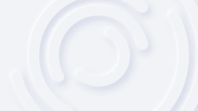 미니멀리스트 화이트 동심원 - abstract background 스톡 비디오 및 b-롤 화면