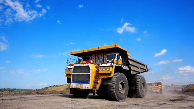 Mining dump truck Mining dump trucks in the open pit mine construction equipment stock videos & royalty-free footage