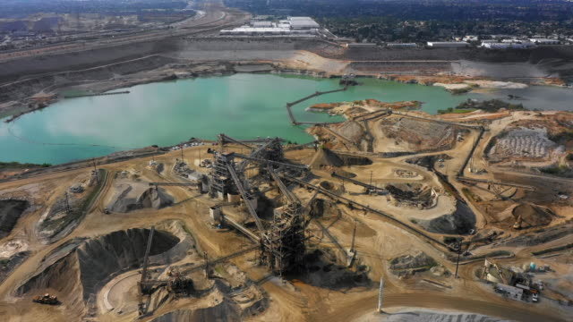 mining quarry pit - sottosuolo video stock e b–roll