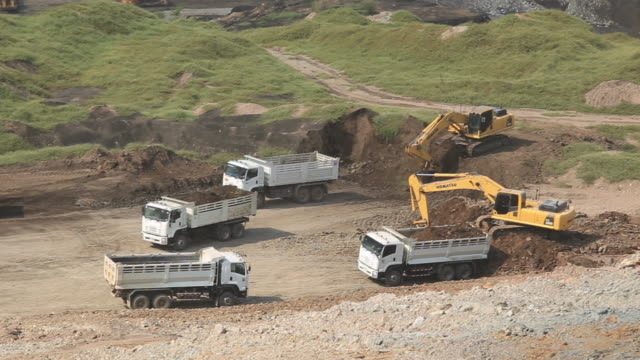 Mining Machines were working in the coal mines. dump truck stock videos & royalty-free footage