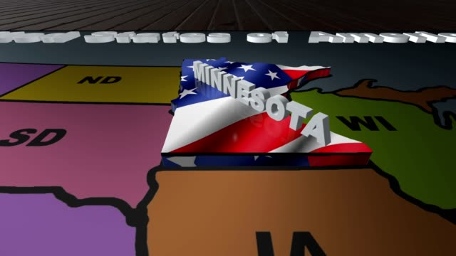 Minnesota pull out from USA states abbreviations map video