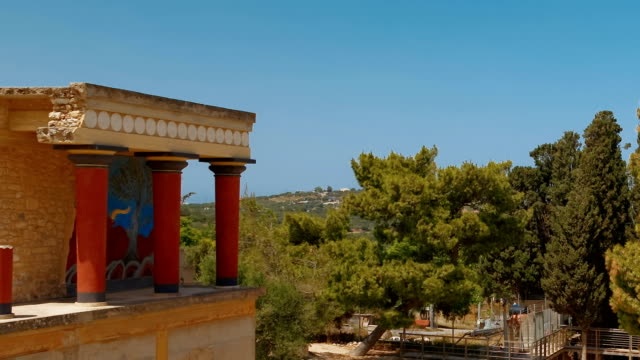 Minoan Palace of Knossos, Heraklion, Crete, Greece video