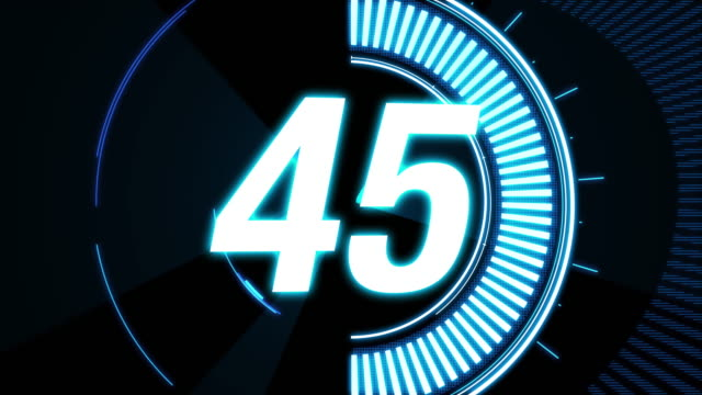 1 minute / 60 seconds Countdown.Cool Futuristic Blue neon lights Timer One minute countdown CG. Cool blue lights and shiny glows. Happy New Year party,Celebration days etc.. instrument of time stock videos & royalty-free footage
