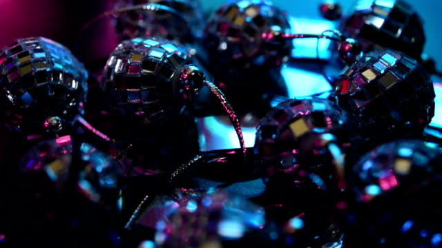 Mirror balls on a turntable video