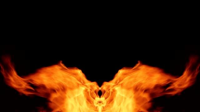 vídeos de stock e filmes b-roll de mirror pillars of fire on the sides frames - cinza