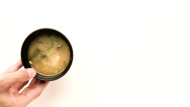 misosoppa - misosås bildbanksvideor och videomaterial från bakom kulisserna