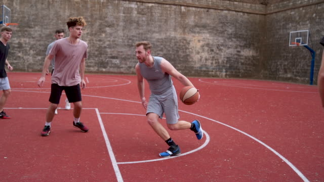 I miss the shoot again! Group of young adults playing amateur basketball outdoor practice drill stock videos & royalty-free footage