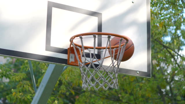 Missed basketball shot in 4k slow motion 60fps