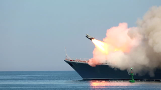 missile attack warship video