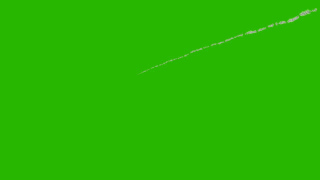 Missile Smoke Trail Flying Up to the Sky on a Green Screen Background video