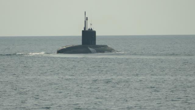 missile submarine at sea video