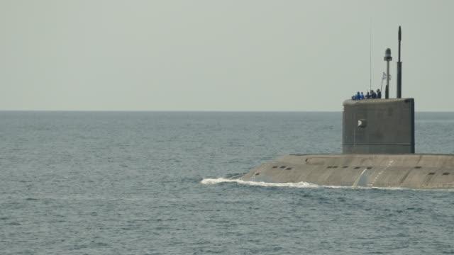missile submarine on the high seas video