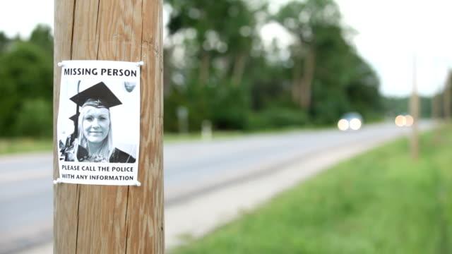 missing person poster - saknad känsla bildbanksvideor och videomaterial från bakom kulisserna