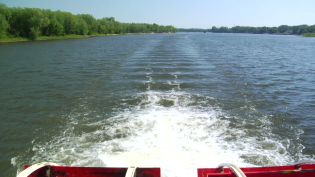 Mississippi River Paddle boat CU - HD video
