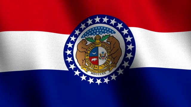 флаг миссури - missouri стоковые видео и кадры b-roll