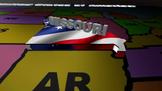 Missouri pull out from USA states abbreviations map video