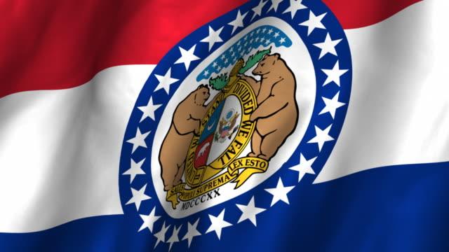 флаг миссури-размахивающий руками, циклы - missouri стоковые видео и кадры b-roll
