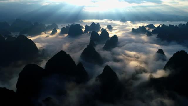 Mist Lijiang Mist Lijiang in Guilin China heat haze stock videos & royalty-free footage