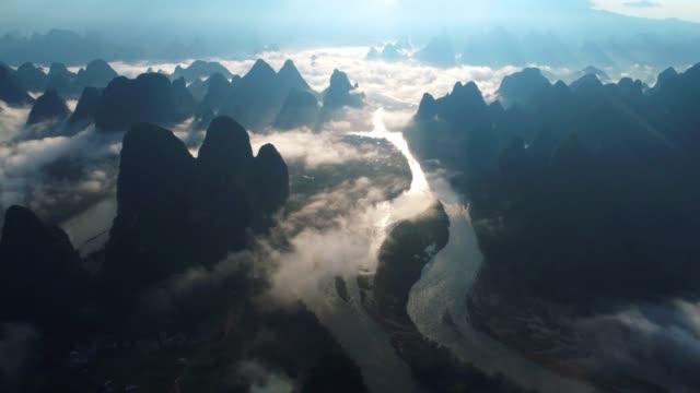 mist lijiang - guilin stock-videos und b-roll-filmmaterial