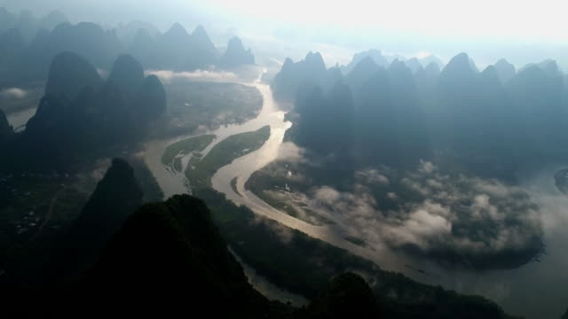 mist lijiang - provinz guangxi stock-videos und b-roll-filmmaterial