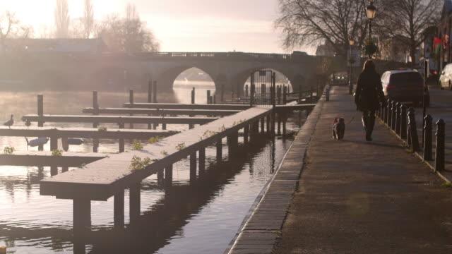 Misty Morning Over River Thames In Henley video