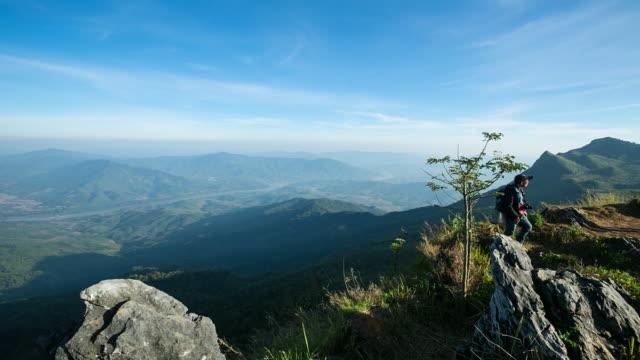 Misty mountain forest, Thailand video