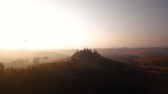 Misty sunrise over hills video