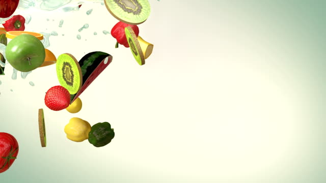 Mixed fruit (Slow Motion)