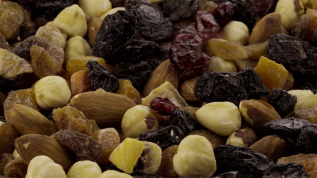 Mixed Nuts and Dried Fruits - 4K video video