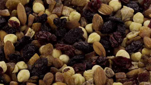 Mixed Nuts and Dried Fruits - Loopable 4K video video