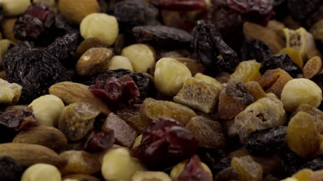 Mixed Nuts and Dried Fruits - Loopable video