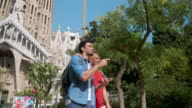 istock Mixed Race Father and Son Enjoying City Break in Barcelona 1277994587