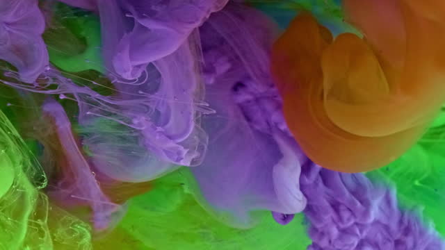 Mixing Colors Paint in Water multi colored background stock videos & royalty-free footage