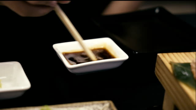 Mixing Wasabi in Soy sauce. video