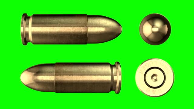 9 mm Bullet Return. Luma matte video