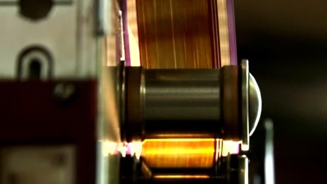 taśma foliowa 35 mm. taśmy folii ruchowej. - urządzenie projekcyjne filmów i materiałów b-roll