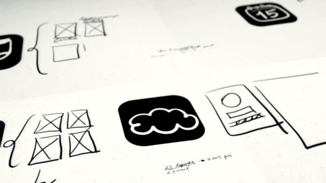 モバイルアプリケーションの設計と構築 - 図面点の映像素材/bロール