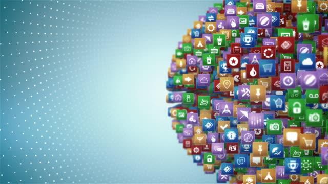 Aplicación móvil de globo - vídeo