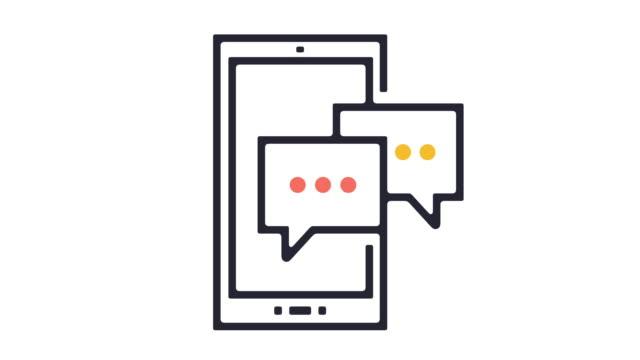 mobile app icon animation - technika ilustracji filmów i materiałów b-roll