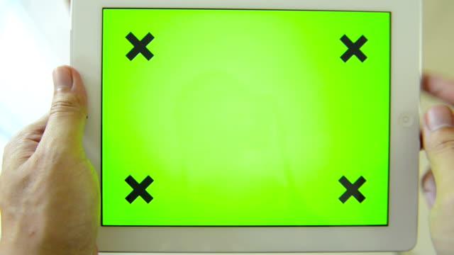 Dispositivo móvel com tela verde (HD) - vídeo