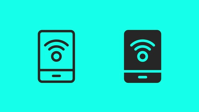 Mobile Internet Connection Icons - Vector Animate