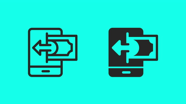 Mobile Payment Receiving Icons - Vector Animate