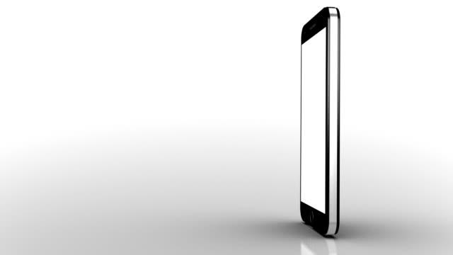 mobile phone animation. white background. luma matte. - white background 個影片檔及 b 捲影像