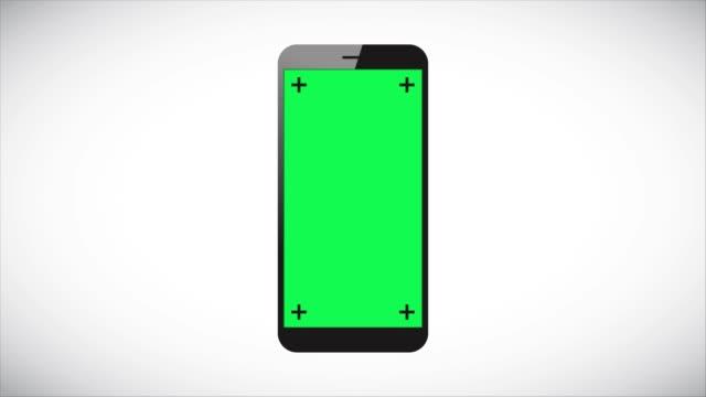 vídeos de stock, filmes e b-roll de animação de filme de telemóvel 4k no fundo cinzento vídeo stock - fundo verde
