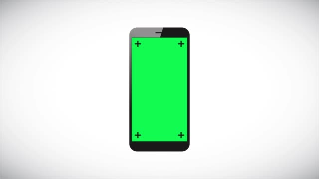4K Mobile Phone Film Animation On Gray Background Stock Video