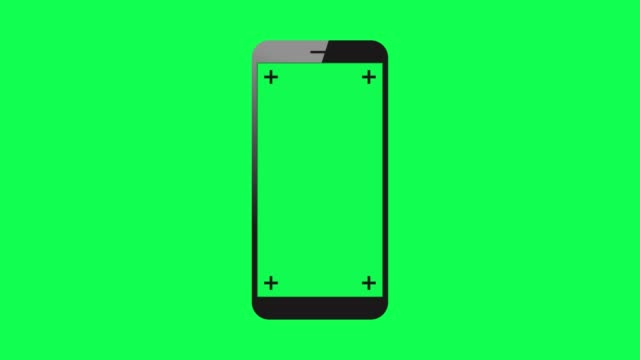 4K Mobile Phone Film Animation On Green Background Stock Video